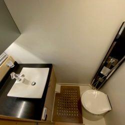 Prestige 550 Fly Floria_Convertible guest cabin toilet