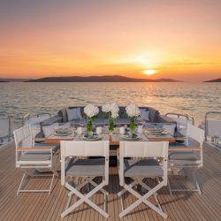 QUANTUM_Sunset_aft_deck_table