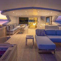 Upper deck at night