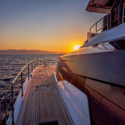 YACHTING_Power 67_deck-sunset_hiIMG_8743