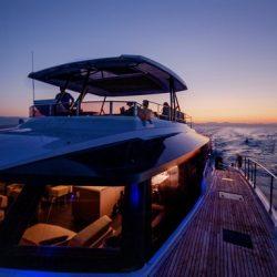 YACHTING_Power 67_deck-sunset_hiIMG_8979